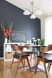 Dining room:Navy Accent Walls Navy Accent Wall Dining Room Chairs Simple  Ideas Design Comfortable