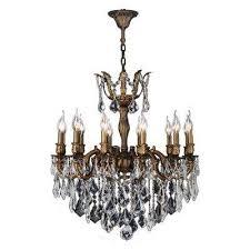 versailles 12 light antique bronze crystal chandelier