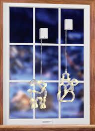 Polarlite Lba 50 008 Fenster Dekoration Rentier Warm Weiß Led Transparent