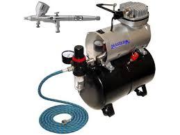 fine detail 0 2 dual action gravity airbrush kit tank air compressor auto paint