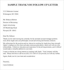 Interview Follow Up Letter Follow Up Letter After Phone Interview