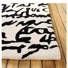 manuscrit rug design within reach black white rug home