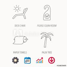 Download Palm Chart Palm Tree Paper Towel And Beach Deck Chair Icons Clean