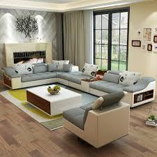 corner living room furniture. Living Room Furniture Modern U Shaped Leather Fabric Corner Sectional Sofa  Set Design Couches For
