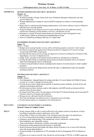 Sample Information Security Resume Information Security Architect Resume Samples Velvet Jobs 15