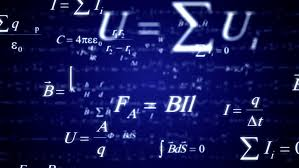blue physicathematics formulas zoom in good for sciense titles and background news