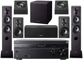 Buy Sony STR-DN1080 7.2-Channel Home Theater AV Receiver Bundled with  Active Subwoofer and Seven Sony Speakers (9 Items) Online in Greece.  B07H58JC75
