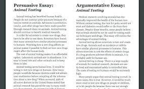 Writing Argumentative Essays Examples Essay For High School
