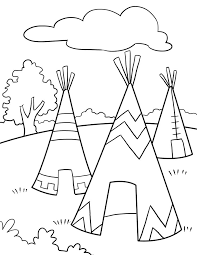 Free Thanksgiving Indian Coloring Pages Printable Jokingartcom