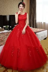 ball dresses online. stunning red round neck solid lace floor-length ball gown dress for women dresses online h