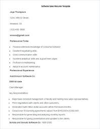 Classic Resume Example Enchanting Resume Samples Format Sample Software Sales Resume Template