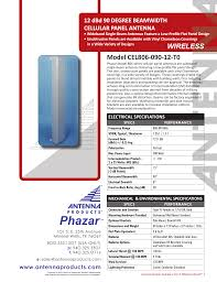 Flat Panel Antenna Design Model Cel806 090 12 T0 Wireless Manualzz Com