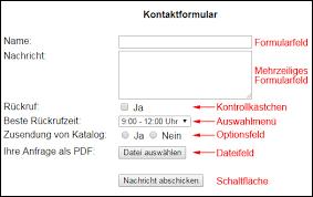 Erstellen von Formularen mit HTML