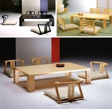 floor seating dining table. Japanese Floor Seating Table And Dining Set With Cushions Patio Room Modern Home O