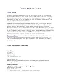 Canadian Resume Format – Resume Sample Source
