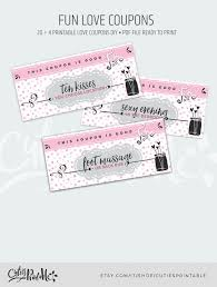 Homemade Gift Vouchers Templates Simple Printable Valentines Day Love Coupons 48 Funny Coupons DIY Etsy