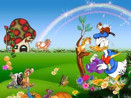 Cartoon garden wallpaper, free cartoon ...