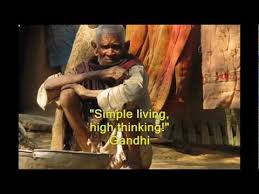 gandhian simple living high thinking for afghans wmv