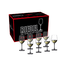 details about riedel vinum viognier chardonnay pay 6 get 8 glasses set of 8