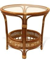 round rattan coffee table. Pelangi Round Rattan Wicker Coffee Table With Glass, Colonial