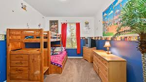 Disney Theme Bunk Room For Kids Perfect Fo VRBO Stunning Themes For Bedrooms Property