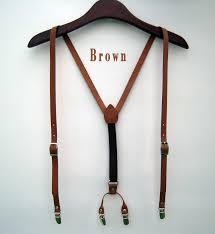 mens elastic suspenders y back retro braces clip on black ivory navy 3 colors