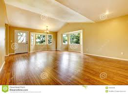 Wood floor room Hotel Large Empty Newly Remodeled Living Room With Wood Floor Impressive Interior Design Large Empty Newly Remodeled Living Room With Wood Floor Stock Image