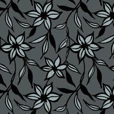 Dutch Wallcoverings Behang Bloemen Zwart En Zilver 7339 7
