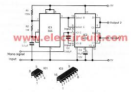 3d surround sound system circuit diagram 3d image simple 3d stereo sound circuit using 555 and ic4053 on 3d surround sound system circuit diagram