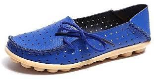 Fashion Grasshoppers Womens Windham Slip On Flat Blue Price