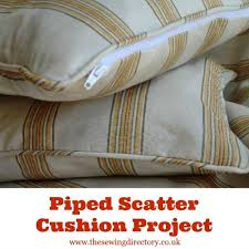 how to sew a piped cushion with a zip
