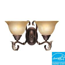 World Imports Olympus Tradition Collection 2 Light Crackled Bronze