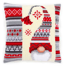 Vervaco Cross Stitch Charts Christmas Elf 2 Vervaco Chunky Cross Stitch Cushion Kit