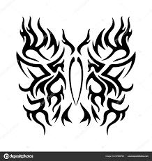 татуировка племенных дизайн стилизованные бабочки абстрактный принт