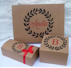 personalised monogram gift bo