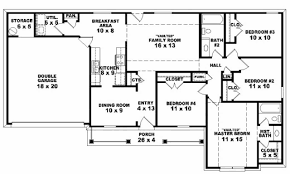 fabulous ranch home floor plans 4 bedroom including with sunroom designs new one story house trends ideas plan at