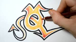 Graffiti Letter E Simple Sketch How To Draw Wild Graffiti Letters  Q   Youtube