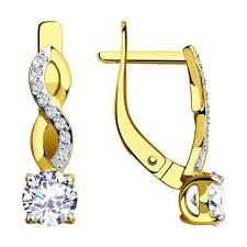 <b>Серьги</b> из <b>желтого</b> золота <b>SOKOLOV</b> – купить в официальном ...