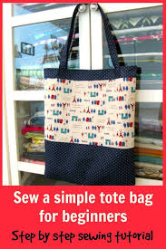 Tote Bag Sewing Pattern Stunning Sew A Tote Bag Sewing Pattern For Beginners Tote Bag Sewing