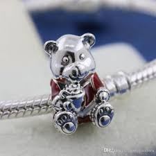 2019 diy loose bead 100 925 sterling silver teddy bear charm fits european pandora style jewelry bracelets necklaces pendant from landypandora