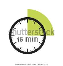 Timer For 15 Min 15 Minutes Timer Office Clock Green Stock Vector Royalty Free