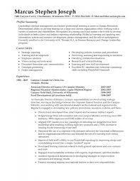 Cover Letter Profile For Resume Sample Sample Professional Profile
