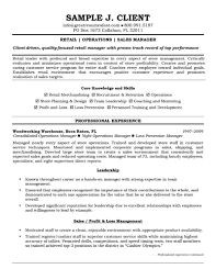 Job Resume Retail Manager Examples Skills Samples Operations And