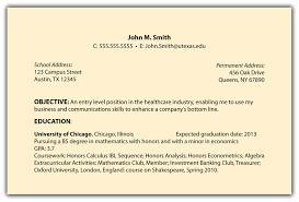 Objectives For A Job Resume Job Objective Example Resume Krida 22