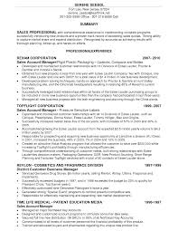 Bunch Ideas Of Sales Cosmetics Resume Sales Account Manager Resume