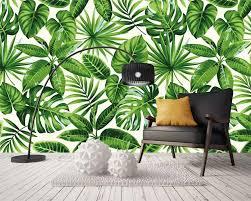<b>Beibehang Custom wallpaper</b> tropical rainforest plant leaves photo ...