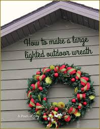Outdoor Lighted Wreath Simple How To Make A Large Lighted Outdoor Wreath