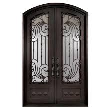 wrought iron front doorsIron Doors Unlimited 62 in x 82 in Mara Marea Classic 34 Lite