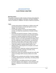 electronic drafter job description template sample form - Draftsman Resume  Sample