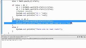 java math example quadratic formula 3